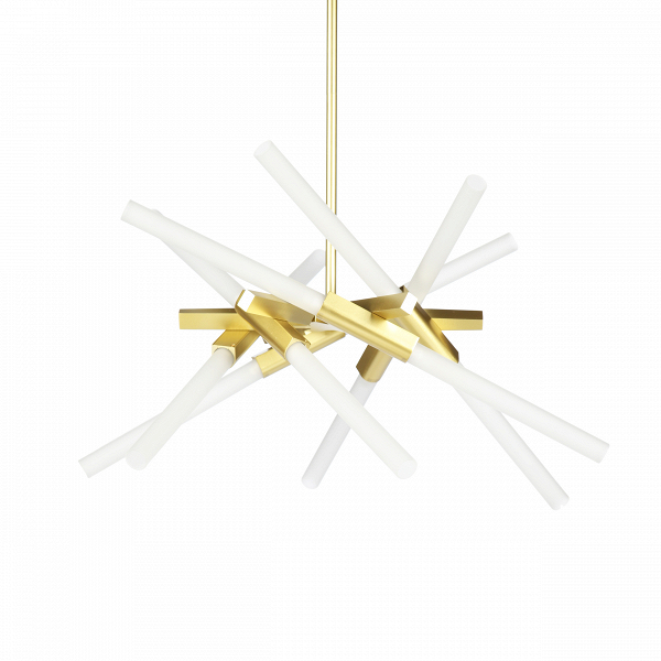 Подвесной светильник Astral Agnes 12 лампПодвесные<br>Оригинальная геометрия подвесного светильника Astral Agnes 12 ламп<br>удачно дополнит интерьер спален, гостиных и офисных помещений. Стеклянные плафоны, закрепленные на алюминиевом каркасе, отражают веяния современного стиля и радуют функциональностью, максимально наполняя пространство светом. Сдержанная цветовая палитра позволит вам наиболее выигрышно расставить акценты и смягчит колористическое решение интерьера. Автор данной модели — Линдси Адамс Адельман, превратившая осветительные при...<br><br>stock: 0<br>Высота: 23<br>Диаметр: 73<br>Количество ламп: 12<br>Материал абажура: Стекло<br>Материал арматуры: Металл<br>Мощность лампы: 2<br>Напряжение: 220<br>Тип лампы/цоколь: G9<br>Цвет абажура: Бронза<br>Дизайнер: Lindsey Adams Adelman