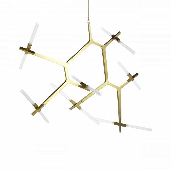 Подвесной светильник Agnes 14 лампПодвесные<br>Оригинальная геометрия подвесного светильника Agnes 14 ламп удачно дополнит интерьер спален, гостиных и офисных помещений. Стеклянные плафоны, закрепленные на алюминиевом каркасе, отражают веяния современного стиля и радуют функциональностью, максимально наполняя пространство светом. Сдержанная цветовая палитра позволит вам наиболее выигрышно расставить акценты и смягчит колористическое решение интерьера.<br><br><br> Автор данной модели — Линдси Адамс Адельман, превратившая осветительные прибо...<br><br>stock: 0<br>Высота: 131<br>Диаметр: 164<br>Количество ламп: 14<br>Материал абажура: Стекло<br>Материал арматуры: Алюминий<br>Мощность лампы: 2<br>Ламп в комплекте: Нет<br>Напряжение: 220<br>Тип лампы/цоколь: G9 LED<br>Цвет абажура: Белый<br>Цвет арматуры: Бронза<br>Дизайнер: Lindsey Adams Adelman