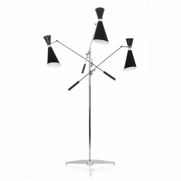 Напольный светильник StanleyНапольные<br>Напольный светильник Stanley — это три стильных торшера, соединенных в одной дизайнерской конструкции. УниверсальноеВв стилевом отношении изделие станет изысканнымВи стильнымВштрихом в любой обстановке гостиной или спальной комнаты.<br><br><br> Дизайн модели светильника отсылает нас к стилю 50-х и 60-х годов. Изделие отлично подойдет для декорирования помещений в стиле модерн или хай-тек, о чем говорят формы и, конечно же, материалы.ВКонструкцияВэтойВлампы изготовл...<br><br>stock: 2<br>Высота: 165<br>Диаметр: 116<br>Количество ламп: 3<br>Материал абажура: Алюминий<br>Материал арматуры: Алюминий<br>Мощность лампы: 40<br>Ламп в комплекте: Нет<br>Напряжение: 220<br>Тип лампы/цоколь: E14<br>Цвет абажура: Хром