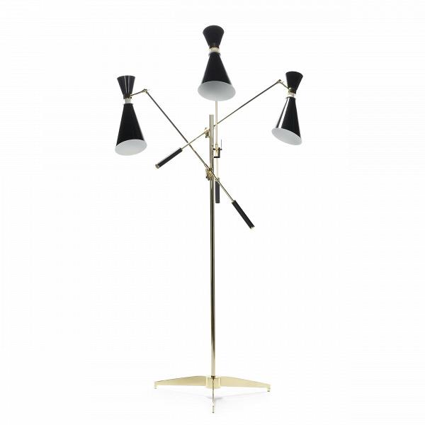 Напольный светильник StanleyНапольные<br>Напольный светильник Stanley — это три стильных торшера, соединенных в одной дизайнерской конструкции. УниверсальноеВв стилевом отношении изделие станет изысканнымВи стильнымВштрихом в любой обстановке гостиной или спальной комнаты.<br><br><br> Дизайн модели светильника отсылает нас к стилю 50-х и 60-х годов. Изделие отлично подойдет для декорирования помещений в стиле модерн или хай-тек, о чем говорят формы и, конечно же, материалы.ВКонструкцияВэтойВлампы изготовл...<br><br>stock: 0<br>Высота: 165<br>Диаметр: 116<br>Количество ламп: 3<br>Материал абажура: Алюминий<br>Материал арматуры: Алюминий<br>Мощность лампы: 40<br>Ламп в комплекте: Нет<br>Напряжение: 220<br>Тип лампы/цоколь: E14<br>Цвет абажура: Золотой