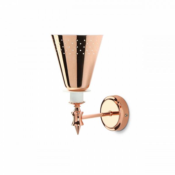 Настенный светильник CharlesНастенные<br>Настенный светильник ВCharles — это стильная дизайнерская лампа, идеально подходящая в качестве освещения для ванной комнаты. Это яркая комбинация высокого качества исполнения и дизайна, которые с успехом украсят и любую другую комнату — спальню, кухню, гостиную.В<br><br><br> Светильник подойдет в качестве декора для помещений в стиле модерн, хай-тек и минимализм. Дизайнер отразил в изделии стилистику сороковых, эпохи джаза, расцвета американской богемы. Простой, но вместе с тем стиль...<br><br>stock: 5<br>Высота: 20<br>Ширина: 14<br>Доп. цвет абажура: Белый<br>Количество ламп: 1<br>Материал абажура: Алюминий<br>Мощность лампы: 40<br>Ламп в комплекте: Нет<br>Напряжение: 220<br>Тип лампы/цоколь: E27<br>Цвет абажура: Золото розовое