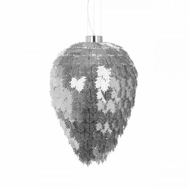 Подвесной светильник Maple диаметр 62Подвесные<br>Ведущие дизайнеры компании Cosmo создали настоящий шедевр в искусстве освещения больших пространств — подвесной светильник Maple диаметр 62, который сочетает в себе изящную роскошь и элегантную грацию цвета и формы. Светильник словно состоит из множества кленовых листьев золотого или серебряного цветов.<br><br><br> Абажур светильника представляет собой, как ясно из названия (maple в переводе с английского — «клен»), множество кленовых листьев, изготовленных из пластин нержавеющей стали, что об...<br><br>stock: 1<br>Высота: 205<br>Диаметр: 62<br>Материал абажура: Нержавеющая сталь<br>Мощность лампы: 15<br>Напряжение: 220<br>Тип лампы/цоколь: LED<br>Цвет абажура: Хром