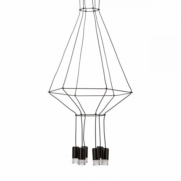 Подвесной светильник WireflowПодвесные<br>Дизайнер подвесного светильника Wireflow попытался создать очень необычный эффект — каждая модель должна, по его задумке, напоминать чертеж обычной люстры. Выразительные и эффектные люстры и на самом деле напоминают четкий рисунок на бумаге. Будто уверенная рука художника нарисовала ее прямо в воздухе. Совершенно невесомыйВна вид подвесной светильник Wireflow — это прочная стальная конструкция и шесть LED-лампочек.<br><br> Светильник выполнен в стиле лофт, который любит просторные помеще...<br><br>stock: 0<br>Высота: 200<br>Диаметр: 50<br>Количество ламп: 6<br>Материал абажура: Сталь<br>Мощность лампы: 3<br>Ламп в комплекте: Нет<br>Напряжение: 220<br>Тип лампы/цоколь: LED<br>Цвет абажура: Черный