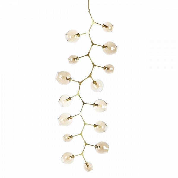 Подвесной светильник Branching Bubbles 15 лампПодвесные<br>Этот потолочный светильник не оставит равнодушными тех, кто стремится привнести частичку природы в свой дом. Он является настоящим хитросплетением форм и материалов: металлические крепления, напоминающие ветки, завершаются выдутыми вручную стеклянными плафонами. Светильник похож на цветущее дерево — это работаВЛиндси Адельман, американского промышленного дизайнера, которая черпает свое вдохновение именно из выразительных природных сочетаний.<br><br><br> Потолочный светильник Branching Bubb...<br><br>stock: 0<br>Высота: 270<br>Диаметр: 97<br>Количество ламп: 15<br>Материал абажура: Стекло<br>Материал арматуры: Металл<br>Мощность лампы: 40<br>Ламп в комплекте: Нет<br>Напряжение: 220<br>Тип лампы/цоколь: E27<br>Цвет абажура: Золотой<br>Дизайнер: Lindsey Adams Adelman