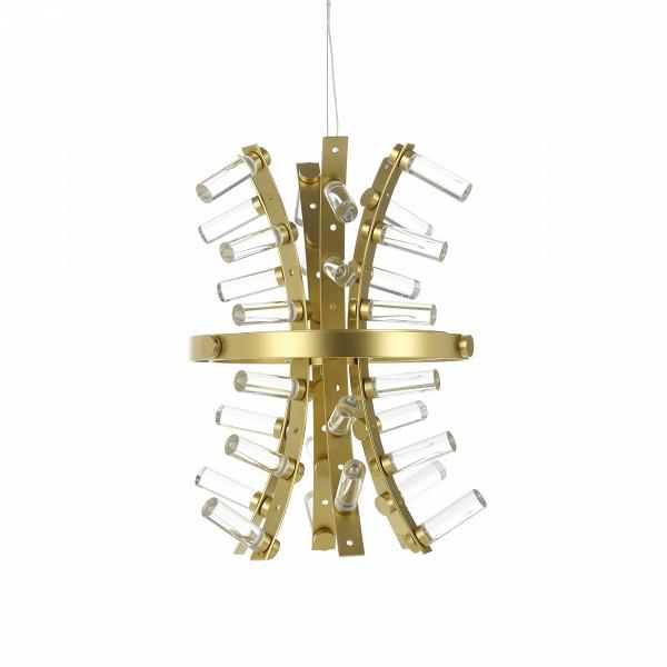 Подвесной светильник ConstructorПодвесные<br>Пришедший к нам из Нью-Йорка в 90-х годах прошлого века индустриальный стиль характеризуется наличием грубоватых форм, а также мебели и декора с «обнаженной» конструкцией. Проще говоря, любые составляющие наполнения интерьера напоминают «недоделки»: провода, арматура, крепежные элементы — все это остается на виду и именно это и является основной стилизующей чертой. Между тем, этот стиль любит большие площади и пространства. Зачастую мебель и декор представляют собой довольно массивные изд...<br><br>stock: 2<br>Высота: 180<br>Диаметр: 30<br>Материал абажура: Акрил<br>Материал арматуры: Металл<br>Мощность лампы: 10<br>Напряжение: 220<br>Тип лампы/цоколь: LED<br>Цвет абажура: Золотой