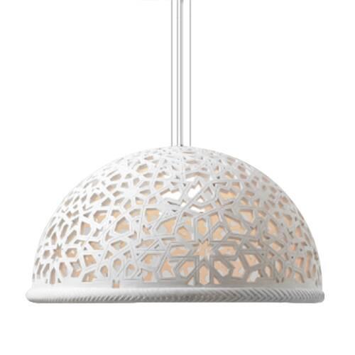 Подвесной светильник TraceryПодвесные<br>Специализируясь на качественной дизайнерской мебели, компания Cosmo освоила и другойВуникальный рынок — светильники. Все эти изделия непременно отличаются изящным дизайном и высокимВкачеством. Как и многие другие, подвесной светильник Tracery непременно порадует красотой и утонченностью и станет хорошим украшением любого классического интерьера.В<br><br> Светильник изготовлен из стеклопластика, высокотехнологичного материала, который широко используется в области изготовления инте...<br><br>stock: 0<br>Высота: 150<br>Диаметр: 60<br>Количество ламп: 1<br>Материал абажура: Стеклопластик<br>Мощность лампы: 40<br>Ламп в комплекте: Нет<br>Напряжение: 220<br>Тип лампы/цоколь: E27<br>Цвет абажура: Белый