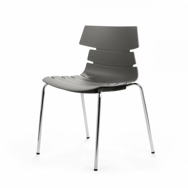 Стул BreakoutИнтерьерные<br>Дизайнерский креативный минималистичный пластиковый стул Breakout (Брэкаут) на тонких металлических ножках от Cosmo (Космо).<br><br>     С одной стороны, стул Breakout — прямой наследник минималистической традиции, которая не терпит излишеств и отсекает все лишнее в пользу функциональности и чистоты линий. С другой — необычная форма стула, напоминающая хребет неизвестного животного, расширяет возможности его использования в интерьерах различных стилей.<br><br><br>     Благодаря своей компактности, легк...<br><br>stock: 0<br>Высота: 81<br>Высота сиденья: 45<br>Ширина: 51<br>Глубина: 58<br>Цвет ножек: Хром<br>Цвет сидения: Серый<br>Тип материала сидения: Полипропилен<br>Тип материала ножек: Сталь нержавеющая