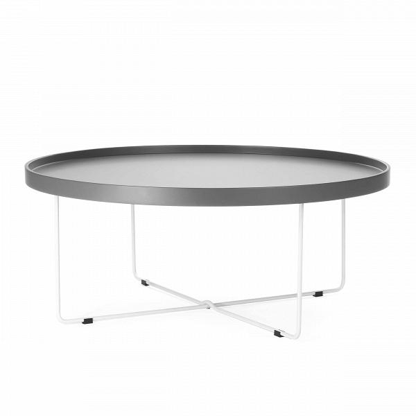 Кофейный стол SparkleКофейные столики<br>Дизайнерский большой легкий кофейный стол Sparkle (Спаркл) на стальных ножках от Cosmo (Космо).<br><br>Кофейный стол Sparkle — предмет, который с легкостью может стать полезным не только в интерьере. Благодаря тому, что он практически невесом, его можно переносить, брать с собой на пикники или в походы. Представьте себе романтическое свидание на берегу живописного озера: щебет птиц, ароматные напитки, свежий воздух... ну и конечно же оригинальный кофейный стол Sparkle!В<br> <br> Столешницу Spa...<br><br>stock: 0<br>Высота: 37<br>Диаметр: 90<br>Цвет ножек: Белый<br>Цвет столешницы: Холодный серый<br>Тип материала столешницы: МДФ<br>Тип материала ножек: Сталь