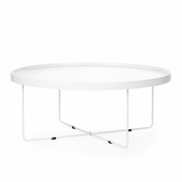 Кофейный стол SparkleКофейные столики<br>Дизайнерский большой легкий кофейный стол Sparkle (Спаркл) на стальных ножках от Cosmo (Космо).<br><br>Кофейный стол Sparkle — предмет, который с легкостью может стать полезным не только в интерьере. Благодаря тому, что он практически невесом, его можно переносить, брать с собой на пикники или в походы. Представьте себе романтическое свидание на берегу живописного озера: щебет птиц, ароматные напитки, свежий воздух... ну и конечно же оригинальный кофейный стол Sparkle!В<br> <br> Столешницу Spa...<br><br>stock: 0<br>Высота: 37<br>Диаметр: 90<br>Цвет ножек: Белый<br>Цвет столешницы: Белый<br>Тип материала столешницы: МДФ<br>Тип материала ножек: Сталь