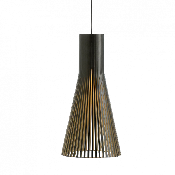 Подвесной светильник Secto 4200Подвесные<br>Компания Secto Design является финским производителем дизайнерских светильников изВдерева, обретающих всемирную известность. Изготавливаемые вручную высококвалифицированными специалистами изВнатуральной древесины березы, они наделены простотой иВчеткостью скандинавского стиля. Торшеры, подвесные светильники иВнастенные бра, аВтакже настольные лампы обеспечивают мягкое свечение иВпридают атмосферность любому помещению.<br><br><br> Подвесной светильник Secto 4200 при...<br><br>stock: 0<br>Высота: 60<br>Диаметр: 30<br>Количество ламп: 1<br>Материал арматуры: Береза<br>Мощность лампы: 40<br>Ламп в комплекте: Нет<br>Напряжение: 220<br>Теплота света: 3000<br>Тип лампы/цоколь: E27<br>Цвет арматуры: Черный<br>Дизайнер: Seppo Koho