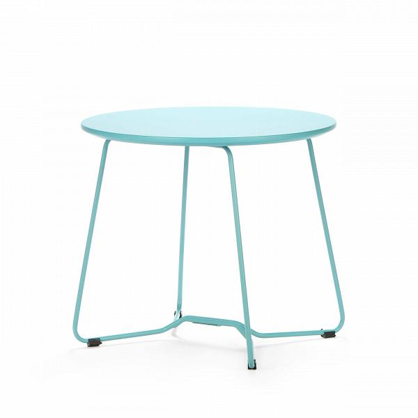 Кофейный стол KendalКофейные столики<br>Дизайнерский простой легкий кофейный стол Kendal (Кендал) с круглой столешницей от Cosmo (Космо).<br><br>Кофейный стол Kendal — это настоящая находка для любителей современных стилей. Однако его минималистичный дизайн далеко не единственный плюс. Его конструкция такова, что в собранном виде он совсем не занимает места. Оригинальный столик быстро собирается и разбирается, и этоВкак раз то, чего часто не достает, когда ожидается много гостей.ВСо складной мебелью от CosmoВраспоряжат...<br><br>stock: 5<br>Высота: 44<br>Длина: 50<br>Цвет ножек: Бирюзовый<br>Цвет столешницы: Бирюзовый<br>Тип материала столешницы: МДФ<br>Тип материала ножек: Сталь