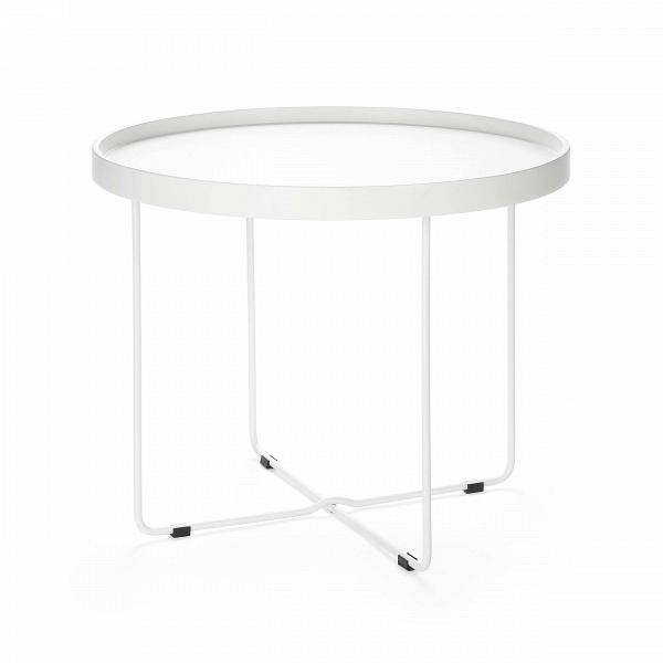 Кофейный стол ArvikaКофейные столики<br>Дизайнерский круглый легкий кофейный столик Arvika (Арвика) на высоких ножках от Cosmo (Космо).<br><br>Кофейный стол в домашнем интерьере не всегда необходим, но ценится теми, кто любит понежиться в удобном кресле за просмотром фильмов или сериалов. Но как быть, когда в квартире не хватает места, чтобы иметь отдельный столик для кофе? На это у компании Cosmo есть ответ — компактность. Благодаря конструкции и без того небольшойВоригинальный кофейный стол Arvika легко складывается, и его не ...<br><br>stock: 0<br>Высота: 50<br>Диаметр: 60<br>Цвет ножек: Белый<br>Цвет столешницы: Белый<br>Тип материала столешницы: МДФ<br>Тип материала ножек: Сталь