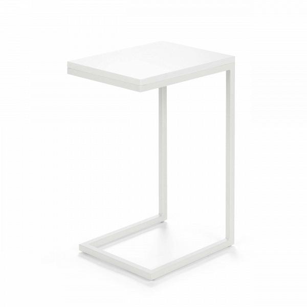 Кофейный стол OsakaКофейные столики<br>Дизайнерский придиванный небольшой кофейный стол Osaka (Осака) на белых ножках от Cosmo (Космо).<br><br><br> Кофейный стол Osaka — это уютный придиванный столик в современном стиле. Благодаря минималистичности дизайна, использовать его можно в различных по стилюВгостиных комнатах — в стиле лофт, хай-тек илиВтехно.В<br><br><br> Привычный облик кофейного стола навсегда изменился, дизайнеры заменили четыре ножки стола на одну сбалансированную конструкцию. Теперь благодаря этому оригинальны...<br><br>stock: 27<br>Высота: 60<br>Ширина: 30<br>Длина: 40<br>Цвет ножек: Белый<br>Цвет столешницы: Белый глянцевый<br>Тип материала столешницы: МДФ<br>Тип материала ножек: Сталь