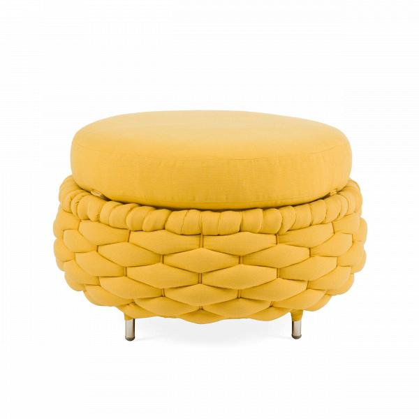 Оттоманка RapunzelПуфы и оттоманки<br>Rapunzel — небольшая линейка мебели от гуру дизайна, лауреата огромного количества премий филиппинского дизайнера Кеннета Кобонпу. Его мебельВ— это традиции, история и настоящиеВсказы. Как и в случае с мебельюВRapunzel, его мебель повествует и отсылает к подлинной сказке.В<br> <br> ОттоманкаВRapunzelВ— это мягкий приставной пуф, а также идеальный партнер для одноименного кресла. Вдоль сиденья имеется плетение из натуральной ткани, напоминающее золотую косу. По-своему...<br><br>stock: 0<br>Высота: 40<br>Диаметр: 62.5<br>Цвет ножек: Хром<br>Материал сидения: Хлопок, Лен<br>Цвет сидения: Желтый<br>Тип материала сидения: Ткань<br>Тип материала ножек: Сталь нержавеющая<br>Дизайнер: Kenneth Cobonpue