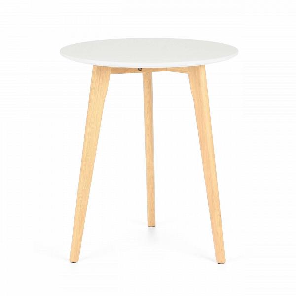 Обеденный стол KnoxОбеденные<br>Дизайнерская высокий узкий обеденный стол Knox (Кнокс) с однотонной столешницей на трех деревянных ножках от Cosmo (Космо).Для тех, кто не любит перегруженный интерьер и отдает предпочтение минимализму в деталях, компания Cosmo предлагает стол Knox. Простой, но вместе с тем ультрамодный дизайн стола станет органичным дополнением к любому современному интерьеру.<br> <br> Гостиные в скандинавском экостиле невозможно представить без придиванных столиков. Это постоянный атрибут и функциональный предм...<br><br>stock: 0<br>Высота: 75<br>Диаметр: 60<br>Цвет ножек: Белый дуб<br>Цвет столешницы: Белый<br>Материал ножек: Массив дуба<br>Тип материала столешницы: МДФ<br>Тип материала ножек: Дерево