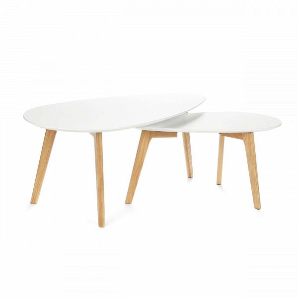 Набор кофейных столов LexieКофейные столики<br>Дизайнерский кофейный стол Lexie (Лекси) с двумя столешницами от Cosmo (Космо).<br><br><br> Многим из нас привычно видеть в жилых домах столы-книжки, и едва ли можно представить гостиную нулевых без нее. Он был компактным решением для трапез в больших семьях. Но время идет, и тренды в дизайне интерьера неизбежно сменяются.В<br><br><br> Компания Cosmo представляет набор оригинальных кофейных столов Lexie. Это отличное решение для тех, кто любит гостей или просмотр ТВ с попкорном. Размер столов по...<br><br>stock: 0<br>Высота: 40; 35<br>Ширина: 50; 35<br>Длина: 100; 70<br>Цвет ножек: Американский белый дуб<br>Цвет столешницы: Белый<br>Материал ножек: Массив дуба<br>Тип материала столешницы: МДФ<br>Тип материала ножек: Дерево