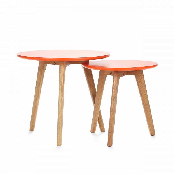 Набор кофейных столов DaisyКофейные столики<br>Дизайнерский небольшой кофейный стол Daisy (Дэйзи) с двумя столешницами на деревянных ножках от Cosmo (Космо).<br><br><br> Многим из нас привычно видеть в жилых домах столы-книжки, и едва ли можно представить гостиную нулевых без нее. Он был компактным решением для трапез в больших семьях. Но время идет, и тренды в дизайне интерьера неизбежно меняются.В<br><br><br> Компания Cosmo представляетВнабор оригинальных кофейных столов Dasie. Это отличное решение для тех, кто любит гостей или просмо...<br><br>stock: 0<br>Высота: 45; 40<br>Диаметр: 50; 40<br>Цвет ножек: Американский белый дуб<br>Цвет столешницы: Оранжевый<br>Материал ножек: Массив дуба<br>Тип материала столешницы: МДФ<br>Тип материала ножек: Дерево