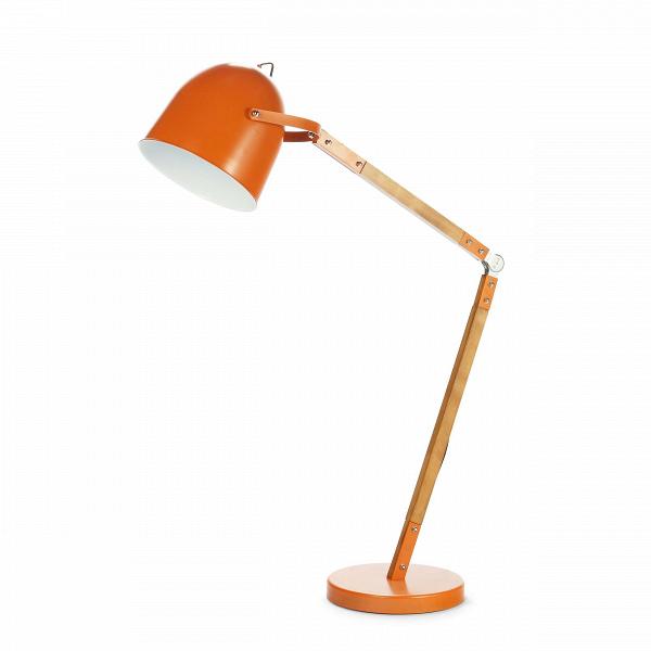 Напольный светильник BranchНапольные<br>Напольный светильник Branch — дизайн, который не устареет никогда. Он представляет собой классический светильник, который буквально перенесли со стола на пол. Это привычная нам настольная лампа, но увеличенная в масштабе. Светильник выполнен в насыщенном оранжевом цвете, который прекрасно сочетается с мебелью из натурального дерева.<br> <br> На ножке светильника имеется колено, благодаря которому можно менять высоту и направлять свет — это обязательные критерии для настольных ламп, предназначенны...<br><br>stock: 30<br>Высота: 170<br>Ширина: 39<br>Длина: 100<br>Доп. цвет абажура: Белый<br>Количество ламп: 1<br>Материал абажура: Металл<br>Материал арматуры: Дерево<br>Мощность лампы: 40<br>Ламп в комплекте: Нет<br>Напряжение: 220-240<br>Тип лампы/цоколь: E27<br>Цвет абажура: Оранжевый<br>Цвет провода: Черный
