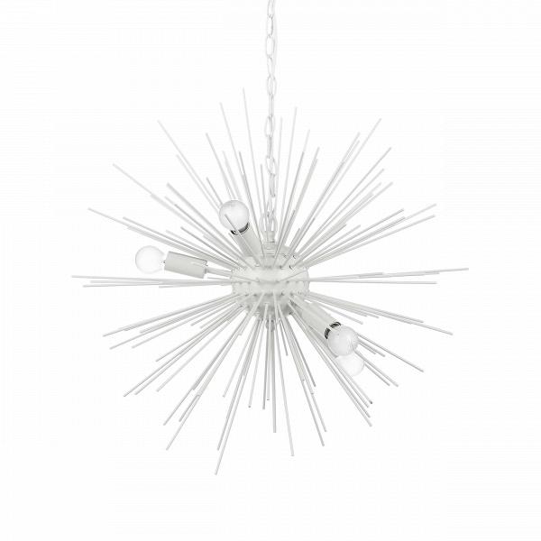 Подвесной светильник SputnikПодвесные<br>Подвесной светильник Sputnik — творение в стиле хай-тек, о чем говорит выбор материалов, форм и цвета. Высокотехнологичное исполнение также является тому подтверждением.В<br> <br> Модель светильника исполнена в двух любимых цветах стиля хай-тек — черном и белом. Это универсальная цветовая база, которую легко сочетать как с яркими и сочными, так и с нейтральными цветами. Светильник прекрасно подходит и для кухонь, и для жилых комнат. Его легко комбинировать с другим комнатным освещением — люб...<br><br>stock: 29<br>Диаметр: 60<br>Длина провода: 150<br>Количество ламп: 5<br>Материал абажура: Металл<br>Материал арматуры: Металл<br>Мощность лампы: 25<br>Ламп в комплекте: Нет<br>Напряжение: 220-240<br>Тип лампы/цоколь: E14<br>Цвет абажура: Белый матовый<br>Цвет арматуры: Белый<br>Цвет провода: Белый
