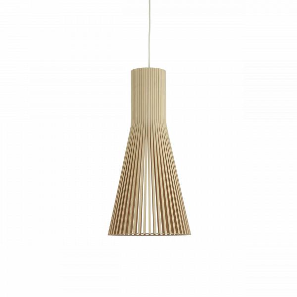 Подвесной светильник Secto 4200Подвесные<br>Компания Secto Design является финским производителем дизайнерских светильников изВдерева, обретающих всемирную известность. Изготавливаемые вручную высококвалифицированными специалистами изВнатуральной древесины березы, они наделены простотой иВчеткостью скандинавского стиля. Торшеры, подвесные светильники иВнастенные бра, аВтакже настольные лампы обеспечивают мягкое свечение иВпридают атмосферность любому помещению.<br><br><br> Подвесной светильник Secto 4200 при...<br><br>stock: 0<br>Высота: 60<br>Диаметр: 30<br>Количество ламп: 1<br>Материал арматуры: Береза<br>Мощность лампы: 40<br>Ламп в комплекте: Нет<br>Напряжение: 220<br>Теплота света: 3000<br>Тип лампы/цоколь: E27<br>Цвет арматуры: Натуральный<br>Дизайнер: Seppo Koho
