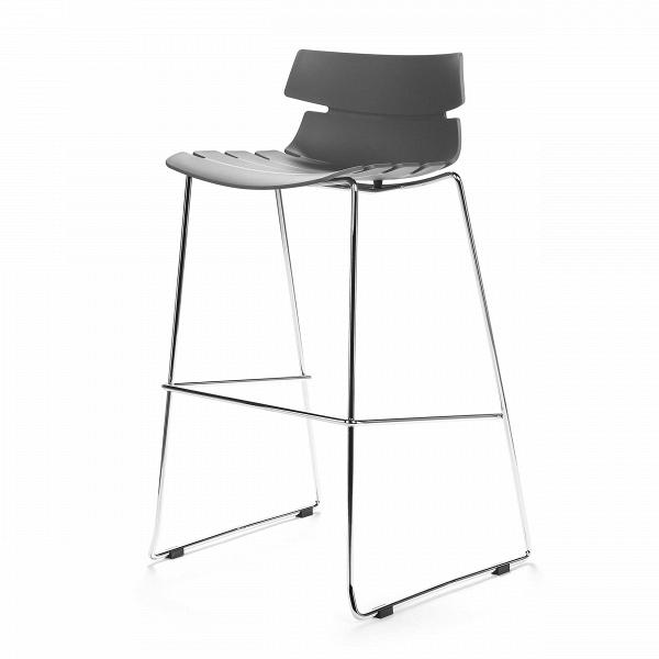 Барный стул TechnoБарные<br>Дизайнерский легкий барный стул Techno (Техно) из полипропилена на стальных ножках от Cosmo (Космо). <br><br> Барный стул Techno — это своего рода интерпретация многофункциональных стульев-раковин. Однако дизайнер ушел от прямого сходства с морской фауной и оставил лишь часть оригинальной задумки, чтобы в конечном виде изделие подходило под большее количество интерьеров.<br> <br> Этот высокий оригинальный стул можно расположить за барной стойкой или столешницей в стиле хай-тек или техно. Сделанный из...<br><br>stock: 0<br>Высота: 97<br>Высота сиденья: 76<br>Ширина: 50<br>Глубина: 59<br>Цвет ножек: Хром<br>Цвет сидения: Серый<br>Тип материала сидения: Полипропилен<br>Тип материала ножек: Сталь нержавеющая