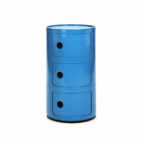 Тумба Componibili с 3 отсекамиТумбы и комоды<br>Мебель для хранения из коллекции Componibili от известного итальянского дизайнера Анны Кастелли Феррьери — это причудливый, но определенно стильный дизайн. Каждая из моделей коллекции отлично сочетается с рядом других, их размеры и формы комбинируются и позволяют составлять новые и новые предметы мебели, подходящих под ваши нужды.В<br> <br> Тумба Componibili с 3 отсеками — модель, которую можно использовать как самостоятельную, так и как приставную часть.<br><br>stock: 5<br>Высота: 58,5<br>Диаметр: 32<br>Материал каркаса: Пластик<br>Цвет каркаса: Голубой<br>Дизайнер: Anna Castelli Ferrieri