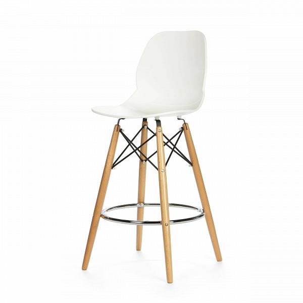 Барный стул EiffelБарные<br>Дизайнерский барный стул Eiffel (Айффэл) из полипропилена на светло-коричневых ножках от Cosmo (Космо). <br>Освежите дизайн своего домашнего или рабочего интерьера с помощью барного стула Eiffel от компании Cosmo. Уникальный и, главное, стильный дизайн стула Eiffel — залог безукоризненности вашего будущего интерьера. Все подобранные цвета, материалы и формы как нельзя лучше гармонируют друг с другом. Стул органично сочетается со столешницами как из натуральной светлойВдревесины, так и с ис...<br><br>stock: 30<br>Высота: 106,5<br>Высота спинки: 68<br>Ширина: 45,5<br>Глубина: 49<br>Цвет ножек: Светло-коричневый<br>Материал ножек: Массив бука<br>Тип материала каркаса: Сталь<br>Цвет сидения: Белый<br>Тип материала сидения: Полипропилен<br>Цвет каркаса дополнительный: Хром<br>Тип материала ножек: Дерево<br>Цвет каркаса: Черный