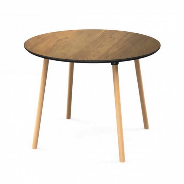 Обеденный стол Molasses диаметр 100Обеденные<br>Серия столов Molasses — это три модели, среди которых обеденные и кофейные столы. Названы они так по столешнице, которая имеет приятный теплый коричневый цвет и натуральную текстуру дерева. Molasses в переводе с английского означает «патока». Это густой тягучий сироп,Впродукт неполного осахаривания крахмала. В стандартном представлении он имеет насыщенный кофейный цвет.<br> <br> Обеденный стол Molasses диаметр 100 — основная модель коллекции. На столешницу из МДФ нанесен рисунок деревянного ...<br><br>stock: 0<br>Высота: 73<br>Диаметр: 100<br>Цвет ножек: Светло-коричневый<br>Цвет столешницы: Коричневый<br>Материал ножек: Массив бука<br>Тип материала столешницы: МДФ<br>Тип материала ножек: Дерево