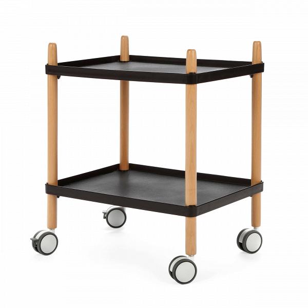 Кофейный стол MorningКофейные столики<br>Дизайнерский кофейный стол Morning (Морнинг) на колесиках с двумя столешницами от Cosmo (Космо).<br><br><br> Утро, как известно, задает настроение всему дню. Сделать его бодрым и позитивным в наших силах. Кофейный стол Morning — большой оригинал. Прежде всего покоряет его гибкость и функциональность: стол с ножками изВсветлой древесины оснащен четырьмя металлическими колесиками, которые позволяют легко передвигать его в пространстве. ПоВутрам он может служить обычным столом для быстрог...<br><br>stock: 6<br>Высота: 60<br>Ширина: 36<br>Длина: 50<br>Цвет ножек: Светло-коричневый<br>Цвет столешницы: Черный<br>Тип материала столешницы: Пластик<br>Тип материала ножек: Дерево