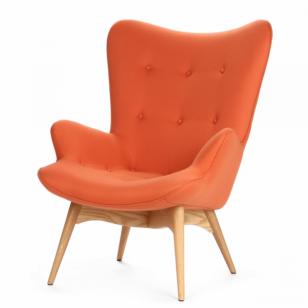 Кресло Contour 2Интерьерные<br>Дизайнерское глубокое кресло Contour 2 (Кантур 2) обивкой из ткани на деревянных ножках от Cosmo (Космо).<br><br><br> Австралийцы любят хороший дизайн воВвсем, отВоформления винных бочонков доВсерферных досок. Одним изВсамых ярких дизайнеров стал художник Грант Фезерстон, который начал заниматься дизайном в сороковых годах прошлого столетия иВсВтех пор стал иконой стиля воВвсем мире.<br><br><br> Идеальное как для прихожей, так иВдля гостиной, оригинальное кресл...<br><br>stock: 1<br>Высота: 91<br>Высота сиденья: 37<br>Ширина: 73,5<br>Глубина: 83<br>Цвет ножек: Дуб<br>Материал ножек: Массив дуба<br>Материал обивки: Полиэстер<br>Коллекция ткани: Gabriel Fabric<br>Тип материала обивки: Ткань<br>Тип материала ножек: Дерево<br>Цвет обивки: Оранжевый<br>Дизайнер: Grant Featherston