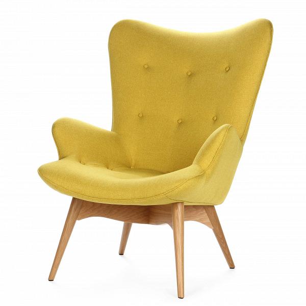 Кресло Contour 2Интерьерные<br>Дизайнерское глубокое кресло Contour 2 (Кантур 2) обивкой из ткани на деревянных ножках от Cosmo (Космо).<br><br><br> Австралийцы любят хороший дизайн воВвсем, отВоформления винных бочонков доВсерферных досок. Одним изВсамых ярких дизайнеров стал художник Грант Фезерстон, который начал заниматься дизайном в сороковых годах прошлого столетия иВсВтех пор стал иконой стиля воВвсем мире.<br><br><br> Идеальное как для прихожей, так иВдля гостиной, оригинальное кресл...<br><br>stock: 4<br>Высота: 91<br>Высота сиденья: 37<br>Ширина: 73,5<br>Глубина: 83<br>Цвет ножек: Дуб<br>Материал ножек: Массив дуба<br>Материал обивки: Полиэстер<br>Коллекция ткани: Gabriel Fabric<br>Тип материала обивки: Ткань<br>Тип материала ножек: Дерево<br>Цвет обивки: Желтый<br>Дизайнер: Grant Featherston