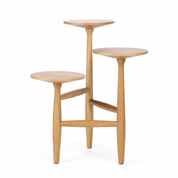 Кофейный стол Tripod высота 55Кофейные столики<br>Дизайнерский стильный деревянный кофейный стол Tripod (Трайпод) с высотой 55 см и с тремя столешницами от Cosmo (Космо).<br><br><br>Данная модель принадлежит линейкеВкофейных столов TripodВот именитого американского дизайнераВШона Дикса.<br> <br> Кофейный стол Tripod высота 55 — уникальный и необычный, он представляет собой конструкцию из трех круглых столешниц расположенных по типу пьедестала одна ниже другой, скрепленных между собой серией перекладин из того же материала. Столик изго...<br><br>stock: 1<br>Высота: 55<br>Ширина: 47<br>Диаметр: 44<br>Цвет ножек: Светло-коричневый<br>Цвет столешницы: Светло-коричневый<br>Материал ножек: Массив дуба<br>Материал столешницы: МДФ, шпон дуба<br>Тип материала столешницы: МДФ<br>Тип материала ножек: Дерево<br>Дизайнер: Sean Dix