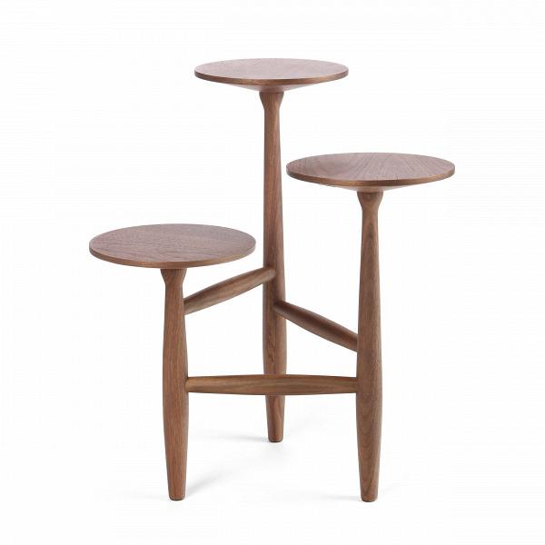 Кофейный стол Tripod высота 55Кофейные столики<br>Дизайнерский стильный деревянный кофейный стол Tripod (Трайпод) с высотой 55 см и с тремя столешницами от Cosmo (Космо).<br><br><br>Данная модель принадлежит линейкеВкофейных столов TripodВот именитого американского дизайнераВШона Дикса.<br> <br> Кофейный стол Tripod высота 55 — уникальный и необычный, он представляет собой конструкцию из трех круглых столешниц расположенных по типу пьедестала одна ниже другой, скрепленных между собой серией перекладин из того же материала. Столик изго...<br><br>stock: 1<br>Высота: 55<br>Ширина: 47<br>Диаметр: 44<br>Цвет ножек: Орех американский<br>Цвет столешницы: Орех американский<br>Материал ножек: Массив ореха<br>Материал столешницы: МДФ, шпон ореха<br>Тип материала столешницы: МДФ<br>Тип материала ножек: Дерево<br>Дизайнер: Sean Dix