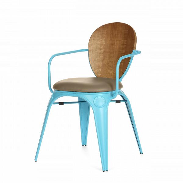 Стул Louix с подушкойИнтерьерные<br>Дизайнерский стул Louix (Луи) из стали с кожаным сиденьем и деревянной спинкой от Cosmo (Космо).<br><br>     Дизайнер Александр Аразола виртуозно соединил практичность и эстетику. Его творения неВпросто стильные, они имеют свой характер, свое настроение. Легкость и простота присутствуют и в этомВстуле.<br><br><br>     Светлый и оригинальный, прочный и надежный,Встул Louix с подушкойВспроектирован в чистом французском стиле, на стыке индустриальной техники, популярной воВФранции...<br><br>stock: 2<br>Высота: 83.5<br>Высота сиденья: 46<br>Ширина: 60<br>Глубина: 52<br>Цвет спинки: Коричневый<br>Материал спинки: Фанера, шпон ивы<br>Тип материала каркаса: Сталь<br>Материал сидения: Полиуретан<br>Цвет сидения: Серый<br>Тип материала спинки: Фанера<br>Тип материала сидения: Кожа искусственная<br>Цвет каркаса: Голубой матовый<br>Дизайнер: Alexandre Arazola