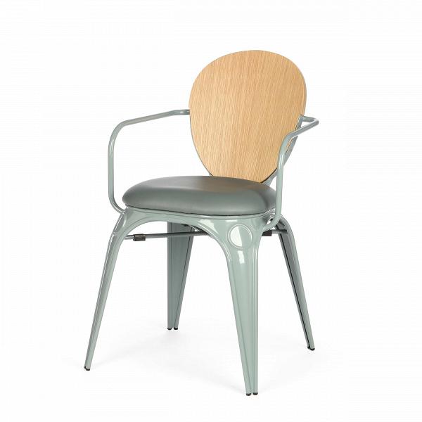 Стул Louix с подушкойИнтерьерные<br>Дизайнерский стул Louix (Луи) из стали с кожаным сиденьем и деревянной спинкой от Cosmo (Космо).<br><br>     Дизайнер Александр Аразола виртуозно соединил практичность и эстетику. Его творения неВпросто стильные, они имеют свой характер, свое настроение. Легкость и простота присутствуют и в этомВстуле.<br><br><br>     Светлый и оригинальный, прочный и надежный,Встул Louix с подушкойВспроектирован в чистом французском стиле, на стыке индустриальной техники, популярной воВФранции...<br><br>stock: 0<br>Высота: 83.5<br>Высота сиденья: 46<br>Ширина: 60<br>Глубина: 52<br>Цвет спинки: Дуб<br>Материал спинки: Фанера, шпон дуба<br>Тип материала каркаса: Сталь<br>Материал сидения: Полиуретан<br>Цвет сидения: Серый<br>Тип материала спинки: Дерево<br>Тип материала сидения: Кожа искусственная<br>Цвет каркаса: Теплый серый<br>Дизайнер: Alexandre Arazola