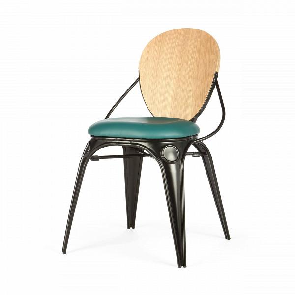 Стул Louix GreenИнтерьерные<br>Дизайнерский креативный стул Louix Green (Луи Грин) с металлическим каркасом кожаным бирюзовым сиденьем и деревянной спинкой от Cosmo (Космо).<br><br>     Дизайнер Александр Аразола виртуозно соединил практичность и эстетику. Его творения неВпросто стильные, они имеют свой характер, свое настроение. Легкость и простота присутствуют и в этомВстуле.<br><br><br>     Светлый и оригинальный, прочный и надежный,Встул Louix GreenВспроектирован в чистом французском стиле, на стыке индустриа...<br><br>stock: 2<br>Высота: 83<br>Высота сиденья: 45<br>Ширина: 45.5<br>Глубина: 60<br>Цвет спинки: Дуб<br>Материал спинки: Фанера, шпон дуба<br>Тип материала каркаса: Сталь<br>Материал сидения: Полиуретан<br>Цвет сидения: Бирюзовый<br>Тип материала спинки: Дерево<br>Тип материала сидения: Кожа искусственная<br>Цвет каркаса: Черный матовый<br>Дизайнер: Alexandre Arazola