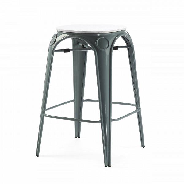Табурет Louix высота 65Полубарные<br>Все модели мебельной коллекции Louix выполнены в индустриальном стиле, который становится все большей константой среди современных европейских интерьеров. Постоянные атрибуты стиля — темная натуральная древесина и металлический каркас, который чаще всего состарен или покрыт краской темного цвета.ВИндустриальный стиль, самый честный, откровенный, обнаженный. Показать все, что скрыто, — основная задача этого направления. Вся «подноготная» оказывается на виду: проводка, трубы, металлические...<br><br>stock: 12<br>Высота: 65<br>Диаметр: 45.5<br>Цвет ножек: Серый<br>Материал сидения: Массив дуба<br>Цвет сидения: Белый<br>Тип материала сидения: Дерево<br>Тип материала ножек: Сталь<br>Дизайнер: Alexandre Arazola