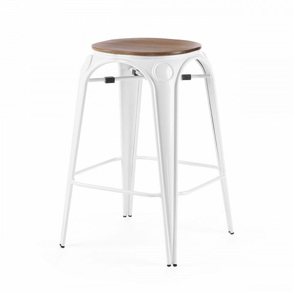 Табурет Louix высота 65Полубарные<br>Все модели мебельной коллекции Louix выполнены в индустриальном стиле, который становится все большей константой среди современных европейских интерьеров. Постоянные атрибуты стиля — темная натуральная древесина и металлический каркас, который чаще всего состарен или покрыт краской темного цвета.ВИндустриальный стиль, самый честный, откровенный, обнаженный. Показать все, что скрыто, — основная задача этого направления. Вся «подноготная» оказывается на виду: проводка, трубы, металлические...<br><br>stock: 0<br>Высота: 65<br>Диаметр: 45.5<br>Цвет ножек: Белый<br>Материал сидения: Массив ореха<br>Цвет сидения: Орех<br>Тип материала сидения: Дерево<br>Тип материала ножек: Сталь<br>Дизайнер: Alexandre Arazola