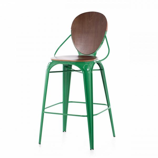 Барный стул LouixБарные<br>Дизайнерский деревянный барный стул Louix (Луикс) со стальным каркасом от Cosmo (Космо).<br>Все модели мебельной коллекции Louix выполнены в индустриальном стиле, которыйВвсе большеВстановится константой среди современных европейских интерьеров. Индустриальный стиль, самый честный, откровенный, обнаженный. Показать все, что скрыто, — основная задача этого направления. Вся «подноготная» оказывается на виду: проводка, трубы, металлические конструкции... Старые вещи не выбрасываются — он...<br><br>stock: 17<br>Высота: 110<br>Высота сиденья: 74<br>Ширина: 65<br>Глубина: 54<br>Тип материала каркаса: Сталь<br>Материал сидения: Фанера, шпон ореха<br>Цвет сидения: Орех<br>Тип материала сидения: Дерево<br>Цвет каркаса: Зеленый<br>Дизайнер: Alexandre Arazola