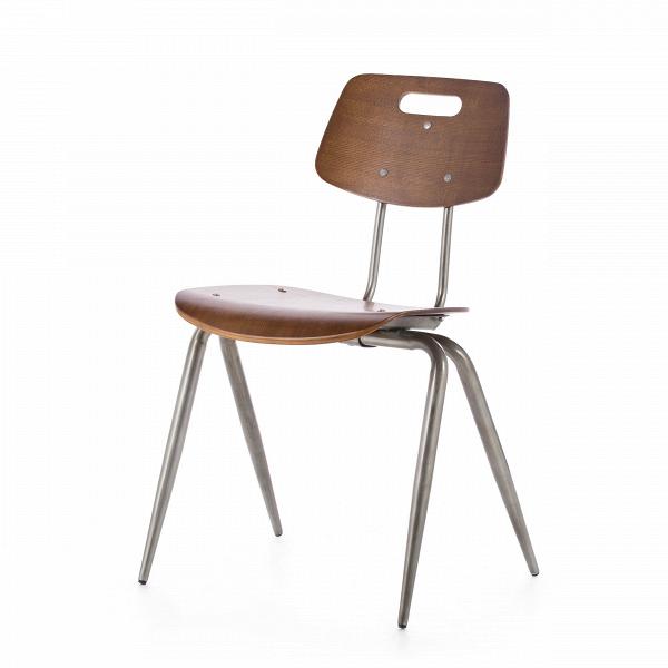 Стул WireИнтерьерные<br>Стул Wire — это вариация на тему классических ученических стульев. Однако в его дизайне присутствуют традиционные черты индустриального стиля. Форма изделия, а также цвет ножек являются прямой к томуВотсылкой.В<br> <br> Стул можно использовать как в учебных аудиториях, так и в интерьере баров в стиле лофт — надежная конструкция с прочным сиденьем непременно выдержит нагрузку большого потока посетителей.В<br><br>stock: 0<br>Высота: 81<br>Высота сиденья: 45<br>Ширина: 56<br>Глубина: 51<br>Тип материала каркаса: Сталь<br>Материал сидения: Фанера, шпон ореха<br>Цвет сидения: Орех<br>Тип материала сидения: Дерево<br>Цвет каркаса: Бронза пушечная
