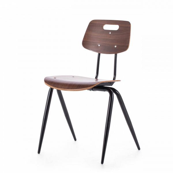 Стул WireИнтерьерные<br>Стул Wire — это вариация на тему классических ученических стульев. Однако в его дизайне присутствуют традиционные черты индустриального стиля. Форма изделия, а также цвет ножек являются прямой к томуВотсылкой.В<br> <br> Стул можно использовать как в учебных аудиториях, так и в интерьере баров в стиле лофт — надежная конструкция с прочным сиденьем непременно выдержит нагрузку большого потока посетителей.В<br><br>stock: 0<br>Высота: 81<br>Высота сиденья: 45<br>Ширина: 56<br>Глубина: 51<br>Цвет ножек: Черный матовый<br>Материал сидения: Фанера, шпон ореха<br>Цвет сидения: Орех<br>Тип материала сидения: Фанера<br>Тип материала ножек: Сталь