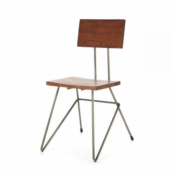 Стул Henry HairpinИнтерьерные<br>Дизайнерский легкий стул Henry Hairpin (Генри Хейрпин) из тонких стальных прутьев с сиденьем и спинкой из массива ивы от Cosmo (Космо).<br>Скандинавский интерьер — практичный, в нем много света и свободного пространства. Мебель в светлых тонах как раз то, что является постоянной составляющей интерьеров в скандинавском стиле. Не менее важно, чтобы она изготавливалась из натуральных материалов.ВКак бы люди ни увлекались созданием новых синтетических изделий, наиболее уютно им среди природы и...<br><br>stock: 25<br>Высота: 78,5<br>Ширина: 43,8<br>Глубина: 46,9<br>Тип материала каркаса: Сталь<br>Материал сидения: Массив ивы<br>Цвет сидения: Темно-коричневый<br>Тип материала сидения: Дерево<br>Цвет каркаса: Бронза пушечная матовая
