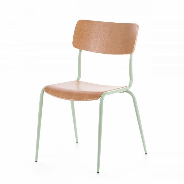Стул MiesИнтерьерные<br>Дизайнерский стул Mies (Миес) обычной формы из стали с деревянными сиденьем и спинкой от Cosmo (Космо).<br>Стулья Mies от компании Cosmo — это две модели, отличающиеся наличием подлокотников. Таким образом вы можете подобрать наиболее подходящую под ваши цели мебель для сидения — обеденную, а возможно, и рабочую или интерьерную.<br> <br> Стул Mies — это удачный пример совмещения натуральных текстур и ярких цветов. Гармоничное сочетание цветов и материалов позволило ему стать красивым, но совершенно...<br><br>stock: 27<br>Высота: 83<br>Высота сиденья: 45<br>Ширина: 50,5<br>Глубина: 55<br>Тип материала каркаса: Сталь<br>Материал сидения: Фанера, шпон дуба<br>Цвет сидения: Дуб<br>Тип материала сидения: Дерево<br>Цвет каркаса: Светло-зеленый