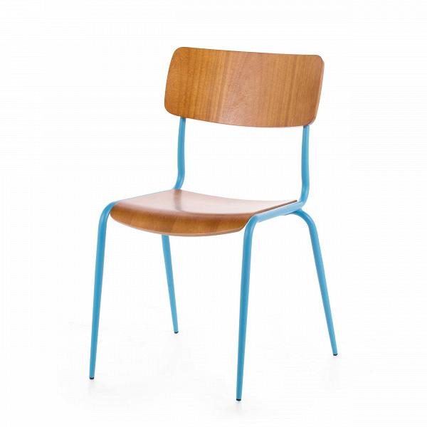 Стул MiesИнтерьерные<br>Дизайнерский стул Mies (Миес) обычной формы из стали с деревянными сиденьем и спинкой от Cosmo (Космо).<br>Стулья Mies от компании Cosmo — это две модели, отличающиеся наличием подлокотников. Таким образом вы можете подобрать наиболее подходящую под ваши цели мебель для сидения — обеденную, а возможно, и рабочую или интерьерную.<br> <br> Стул Mies — это удачный пример совмещения натуральных текстур и ярких цветов. Гармоничное сочетание цветов и материалов позволило ему стать красивым, но совершенно...<br><br>stock: 27<br>Высота: 83<br>Высота сиденья: 45<br>Ширина: 50,5<br>Глубина: 55<br>Тип материала каркаса: Сталь<br>Материал сидения: Фанера, шпон гевеи<br>Цвет сидения: Светло-коричневый<br>Тип материала сидения: Дерево<br>Цвет каркаса: Голубой матовый