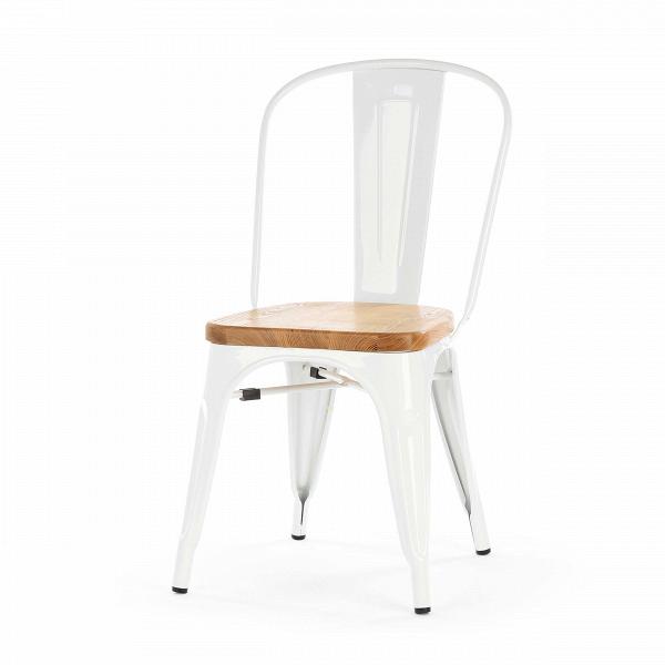 Стул Marais WoodИнтерьерные<br>Дизайнерский креативный жесткий стул Marais Wood (Мэрейс Вуд) на стальном каркасе с сиденьем из дерева от Cosmo (Космо).<br><br>     В современном мире не существует единого правила для создания интерьера, это вопрос личных предпочтений. Кто-то любит наличие картин в золоченых резных рамах, кто-то увлекается яркими восточными коврами и рогожками, а кому-то ближе холодный приглушенный блеск металла и промышленный дизайн в оформлении жилища.<br><br><br> Стул Marais WoodВ — это именно индустриальный ...<br><br>stock: 5<br>Высота: 85<br>Высота сиденья: 45<br>Ширина: 46<br>Глубина: 51<br>Тип материала каркаса: Сталь<br>Материал сидения: Массив ивы<br>Цвет сидения: Светло-коричневый<br>Тип материала сидения: Дерево<br>Цвет каркаса: Белый<br>Дизайнер: Xavier Pauchard