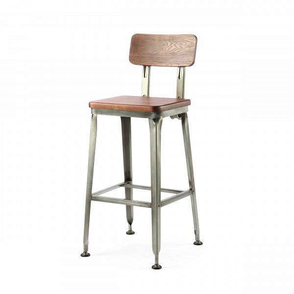 Барный стул HansБарные<br>Дизайнерский барный стул Hans (Ганс) из массива ивы на узких металлических ножках от Cosmo (Космо).<br><br> Ясу Сасамото, японский индустриальный дизайнер предметов обихода и основатель мебельной компании Hans, наделяет свои работы необычной эстетикой и поразительной долговечностью. Его мебель может передаваться по наследству, уверенно проходя сквозь десятилетия. Он сделал возможным использовать аксессуары с промышленным характером даже в ретростиле жилых и общественных помещений.<br><br><br> Оригинал...<br><br>stock: 3<br>Высота: 107,5<br>Высота сиденья: 75<br>Ширина: 51,5<br>Глубина: 42,5<br>Тип материала каркаса: Сталь<br>Материал сидения: Массив ивы<br>Цвет сидения: Коричневый<br>Тип материала сидения: Дерево<br>Цвет каркаса: Бронза пушечная