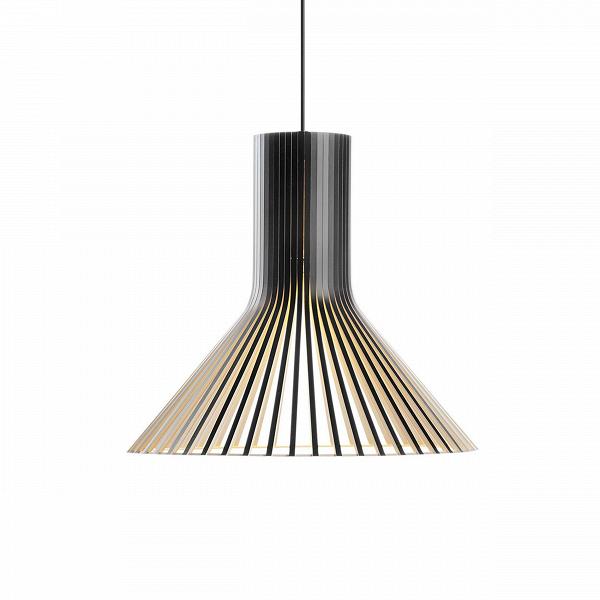 Подвесной светильник Puncto 4203Подвесные<br>Компания Secto Design является финским производителем дизайнерских светильников изВдерева, обретающих всемирную известность. Изготавливаемые вручную высококвалифицированными специалистами изВнатуральной древесины березы, они наделены простотой иВчеткостью скандинавского стиля. Торшеры, подвесные иВнастенные светильники, аВтакже настольные лампы обеспечивают мягкое свечение иВпридают атмосферность любому помещению.<br><br> Подвесной светильник Puncto 4203 изготовлен п...<br><br>stock: 0<br>Высота: 40<br>Диаметр: 45<br>Количество ламп: 1<br>Материал абажура: Береза<br>Мощность лампы: 40<br>Ламп в комплекте: Нет<br>Напряжение: 220<br>Теплота света: 3000<br>Тип лампы/цоколь: E27<br>Цвет абажура: Черный<br>Дизайнер: Seppo Koho