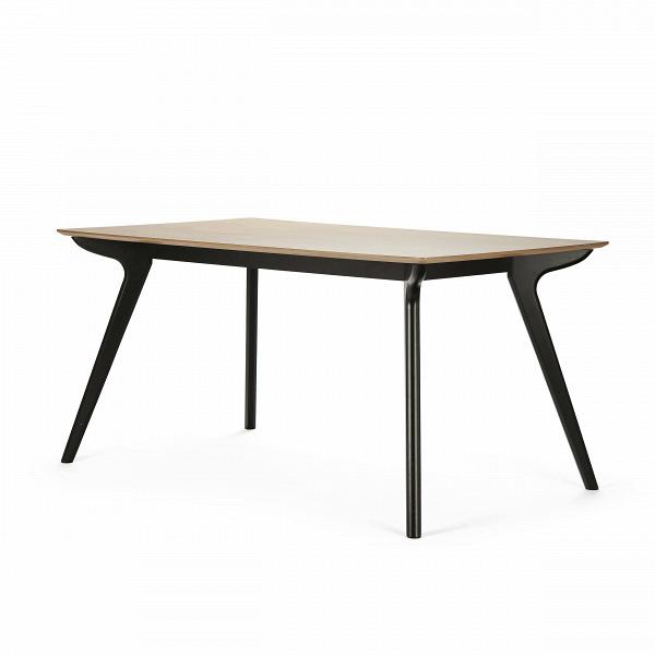 Обеденный стол SandyОбеденные<br>Дизайнерская легкий деревянный обеденный стол Sandy в стиле конструктивизма на тонких ножках от Cosmo (Космо).Никакой домашний интерьер не обойдется без мебели. Как хлеб всему голова, так и мебель — начало всех начал. Домашний очаг всегда начинается с расстановки стульев, столов, кровати и дивана. Константой обязательно является обеденная зона: стол и стулья, которые приглашают домашних насладиться трапезой и приятной беседой.<br> <br> Оригинальный стол Sandy — предмет интерьера из одноименной ко...<br><br>stock: 2<br>Высота: 75<br>Ширина: 90<br>Длина: 150<br>Цвет ножек: Черный<br>Цвет столешницы: Коричневый<br>Материал ножек: Массив каучукового дерева<br>Материал столешницы: МДФ, шпон ясеня<br>Тип материала столешницы: МДФ<br>Тип материала ножек: Дерево