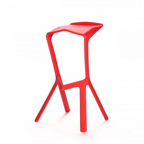 Барный стул Miura 2Барные<br>Дизайнерский барный стул Miura 2 (Миюра) необычной формы с каркасом из полипропилена от Cosmo (Космо). <br><br> Известный немецкий дизайнер Константин Грчик любит экспериментировать. Благодаря смелому видению и умению сочетать практичность и эстетику он получает самые престижные дизайнерские награды, его творения выигрывают призы на конкурсах, некоторые даже являются экспонатами Нью-Йоркского музея современного искусства.ВБарный стул MiuraВ2 — один из таких предметов, эта работа была п...<br><br>stock: 0<br>Высота: 82<br>Высота сиденья: 77.5<br>Ширина: 48<br>Глубина: 40.5<br>Тип материала каркаса: Полипропилен<br>Цвет каркаса: Красный<br>Дизайнер: Konstantin Grcic