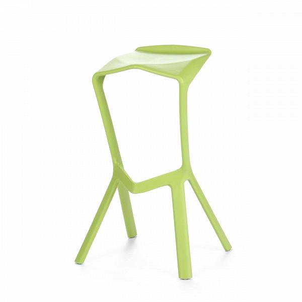 Барный стул Miura 2Барные<br>Дизайнерский барный стул Miura 2 (Миюра) необычной формы с каркасом из полипропилена от Cosmo (Космо). <br><br> Известный немецкий дизайнер Константин Грчик любит экспериментировать. Благодаря смелому видению и умению сочетать практичность и эстетику он получает самые престижные дизайнерские награды, его творения выигрывают призы на конкурсах, некоторые даже являются экспонатами Нью-Йоркского музея современного искусства.ВБарный стул MiuraВ2 — один из таких предметов, эта работа была п...<br><br>stock: 0<br>Высота: 82<br>Высота сиденья: 77.5<br>Ширина: 48<br>Глубина: 40.5<br>Тип материала каркаса: Полипропилен<br>Цвет каркаса: Зеленый<br>Дизайнер: Konstantin Grcic